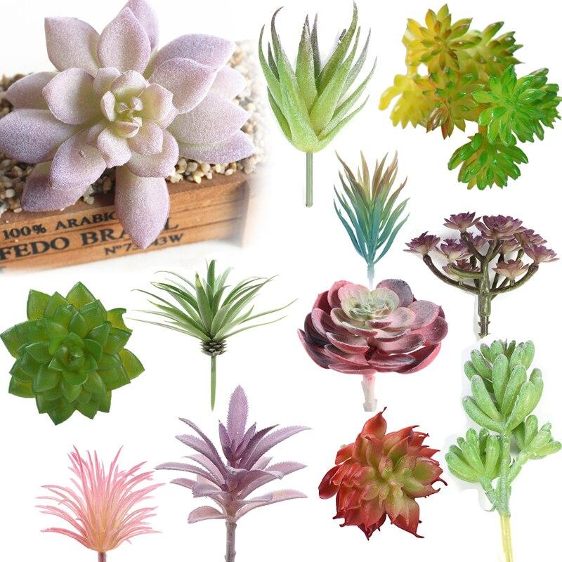 Künstliche Und Getrocknete Blumen Herzhaft Künstliche Sukkulenten Real Touch Landschaft Lotus Pflanzen Gras Dekorative Künstliche Pflanze Garten Anordnung Weihnachten Dekor Hause