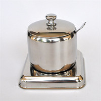 High Quality Stainless Steel Condiment Container Cans Sugar Bowl Food Storage Tank Storage Bottles With Cover