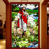 Custom Size Top Grade PVC Self Adhesive Decorative Frosted Privacy Window Film Jesus Christ 028