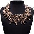 Дизайн лето стиль модное ювелирные изделия винтажный себе ожерелье коренастый листья сплав колье ожерелье кольер роковой XG742