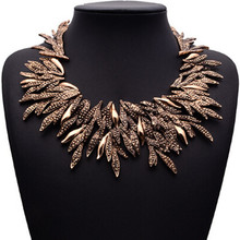 Bronze Leaves Necklace
