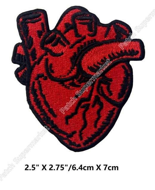 X Ray Anatomischen Rotes Herz Eisen Nähen Auf Kleidung Patches T ...
