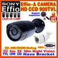 """Big venda! 1/3 """"sony ccd effio 900tvl infravermelho câmera de vídeo de vigilância de segurança cctv câmera ao ar livre ip66 à prova d' água em casa tem suporte"""