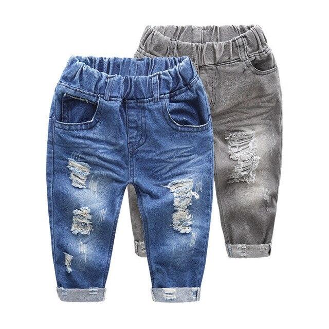 023d03cee 2017 Nuevos Jeans para niñas primavera verano ripped jeans para niños pantalones  para bebé jeans de