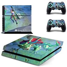 Game Dauntless PS4 Skin Sticker Decal Vinyl for Sony Playstation 4 Console and Controllers PS4 Skin Sticker