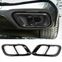 Stainless Steel Black 2 pcs Car Exhaust Mufflers Cover Trim For X5 G05 X7 G07 2019 2020 for accessories new t Mufflers Cover