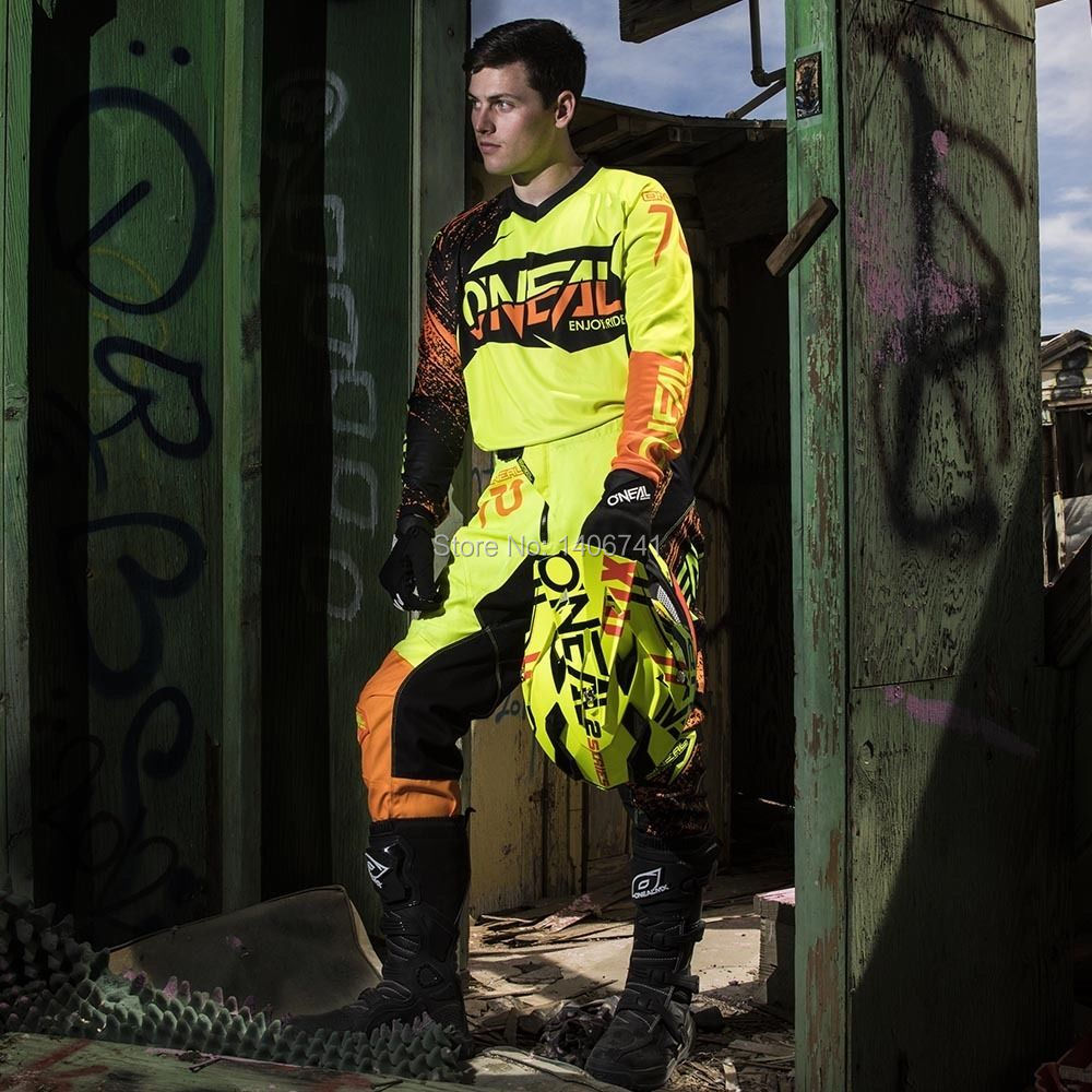Free shipping 2018 ONeal MX Element Burnout Hi-Viz Orange Jersey Pants Motocross Gear Combo MTB DH Off-Road Sets салфетки hi gear hg 5585