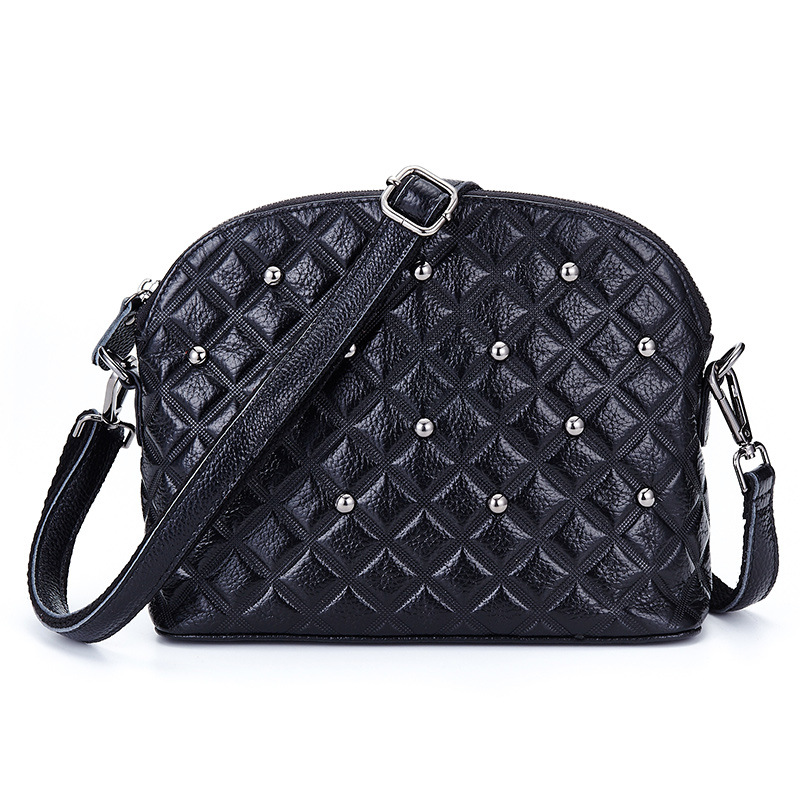 Small Rivet Plaid Criss-cross Handbags High Quality Ladies Party Purse Women Clutch Famous Shoulder Messenger Crossbody Bags long criss cross open back formal party dress