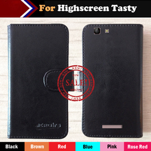 Hot!! In Stock Highscreen Tasty Case 6 Colors Luxury Ultra-thin Leather Exclusive For Highscreen Tasty Phone Cover+Tracking highscreen tasty rose gold