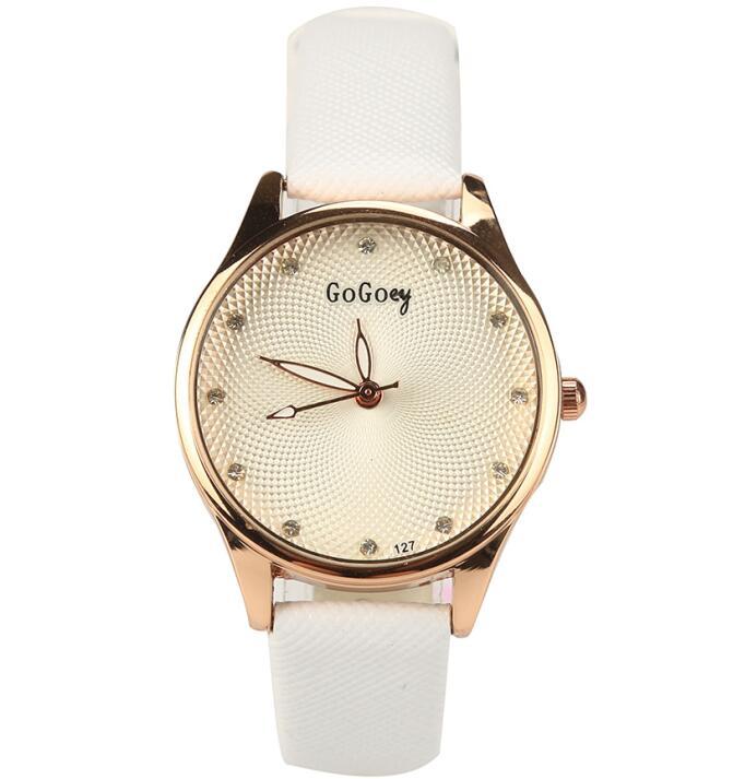 New Fashion Brand Bracelet Watches Women Ladies Casual Quartz Watch Dress Crystal Leather Wrist Watch Wristwatch 1201610186