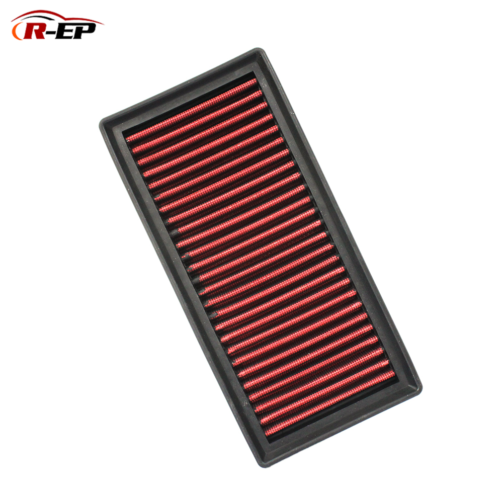 R EP Replacement Panel Air Filter High Flow for Cold Air Intake Washable Reusable Fits for