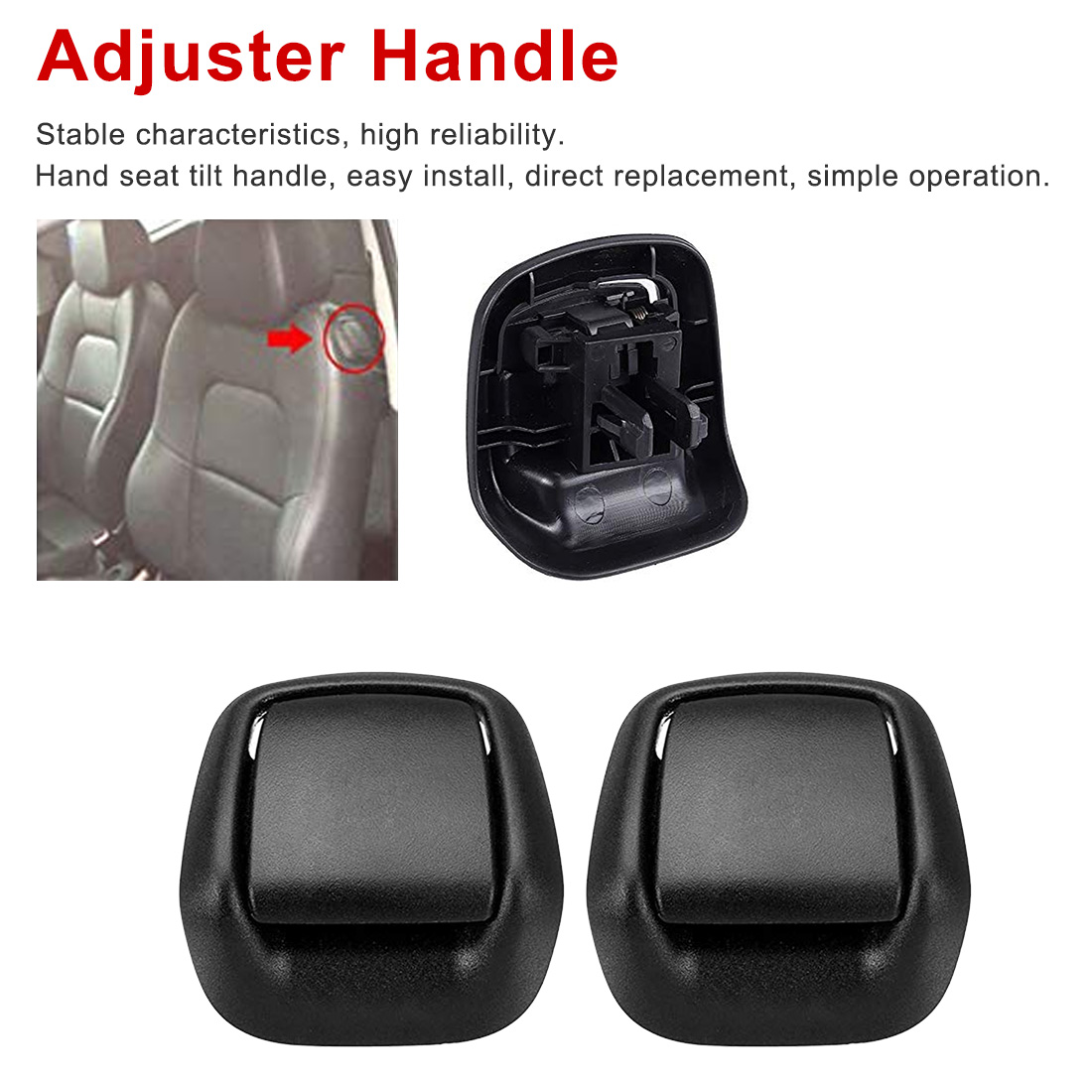 1Pair Plastic Front Left/Right Hand Seat Tilt Handle Seat Adjuster Handle For Universal AUTO Car Seat Accessories