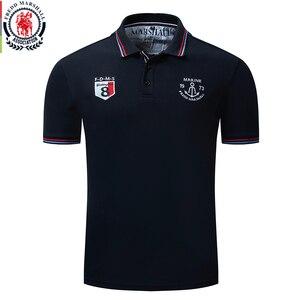 Image 1 - Fredd Marshall 2019 Nieuwe Polo Shirt Mannen Borduren Merk Polo Homme Korte Mouw Business Casual Effen Kleur Heren Polo Shirt 040