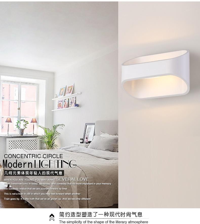LED divar çıraqları 3W 5W 10W AC85-265V Müasir sadə yataq - Daxili işıqlandırma - Fotoqrafiya 4