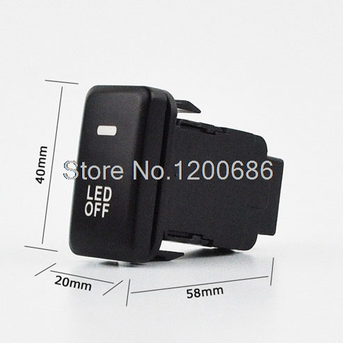 Car Fog Lamp Light Switch Button with Cable For Toyota Camry Prius Prado Highlander 60mm x 42mm x 25mm (L*W*T) bluetooth link car kit with aux in interface for toyota corolla camry avensis hiace highlander mr2 prius rav4 sienna yairs venza