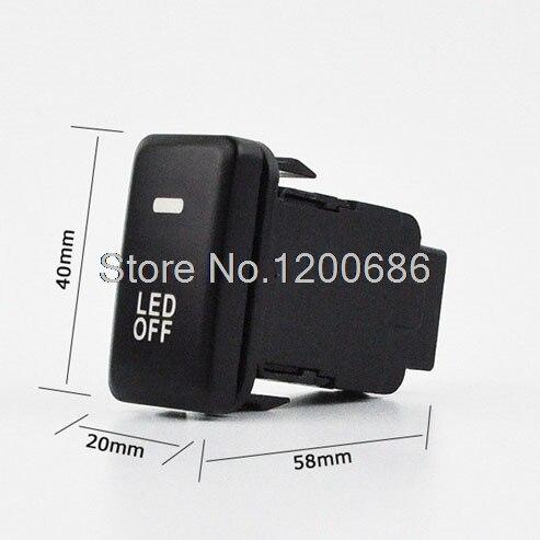 Niebla del coche luz de la lámpara interruptor botón con cable para Toyota Camry Prius Prado Highlander 60mm x 42mm x 25mm (L * W * t)