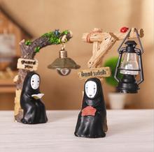 Studio Ghibli Spirited Away No Face man LED Night Light Doll Miyazaki Hayao Anime Model Craft Decoratio PVC Action Figures Toys