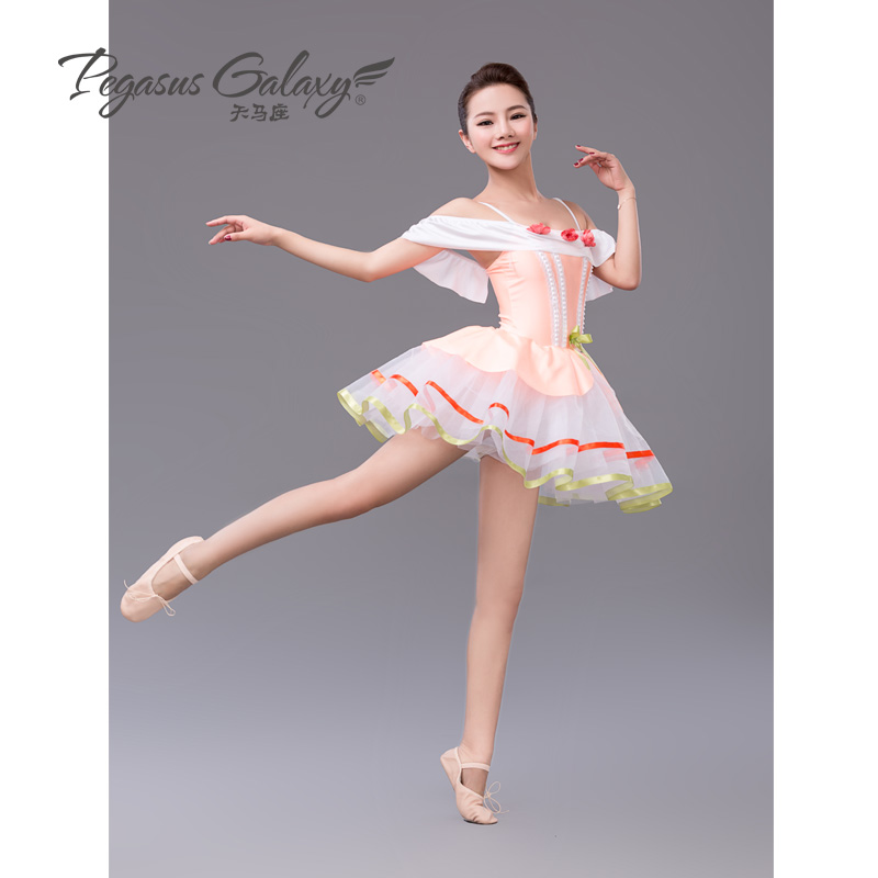 2017 New Stage Ballet Costume Girls Orange/Blue Ballet Dance Dress Adults Swan Lake Ballet Dancewear Children Tutu Ballet Dress