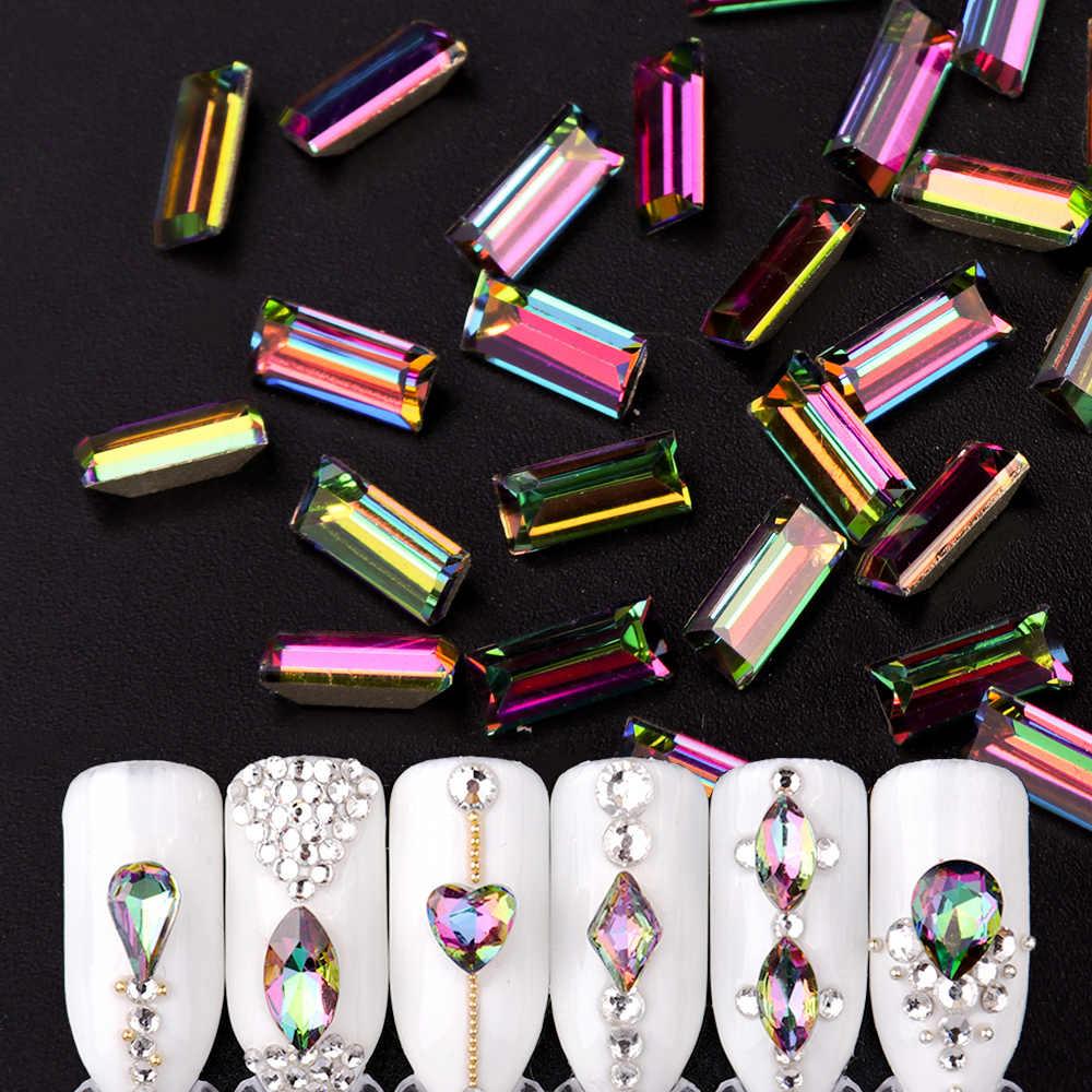 дизайн ногтей геометрия со стразами 5