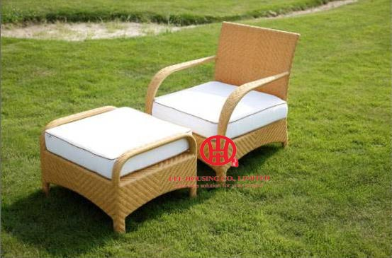 Rattan Outdoor Poolside Wicker Plastic Sunbed,All Weather Rattan Chair Pool Rattan Lounger