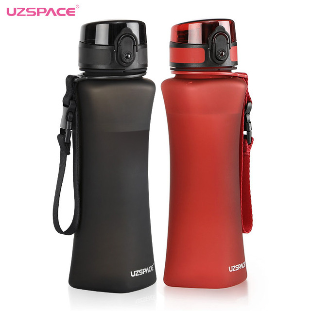 UZSPACE Sports Water Bottles 500ml Fashion 6 Colors Protein Shaker Hiking Travel My Bottle For Water Plastic Drinkware BPA Free 2