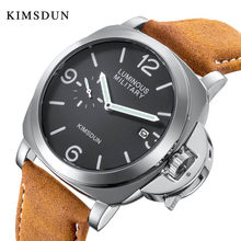 Fashion Brown Leather Watch Men Top Brand Luxury Military Watch Waterproof Quartz Sport Watch for Men(China)