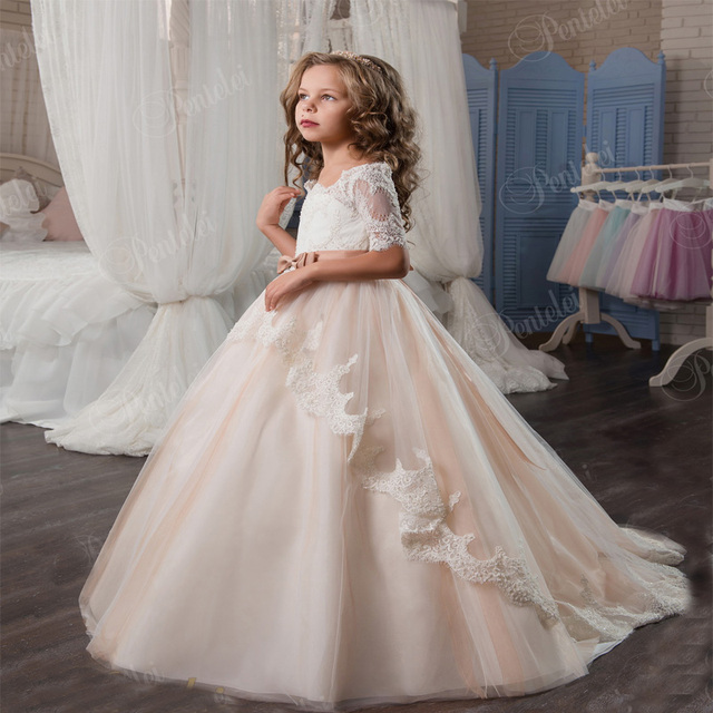 Tüll Mutter Tochter Kleid Meerjungfrau Kinder Hochzeit Kleider ...