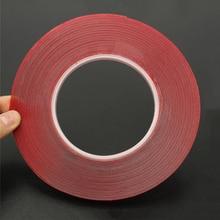 Новая горячая двухсторонняя длина 5 м ширина 3-35 мм крепкая прозрачная акриловая Клейкая Пена клейкая лента с двух сторон