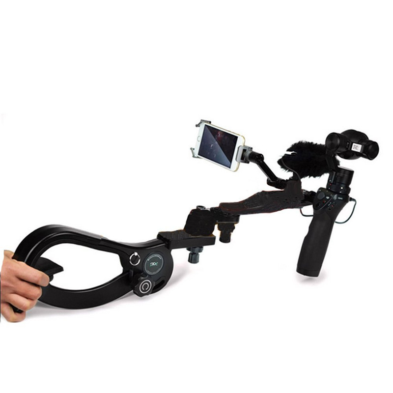 Portable Clamp Shoulder cam Release Mount Holder Support Handfree Shooting Extendable Arm For DJI Osmo Handheld Camera