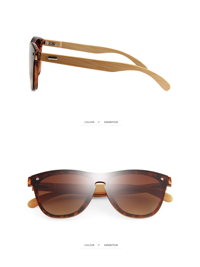 CONCHEN Mirror Lenses Bamboo Wooden Sunglasses 18