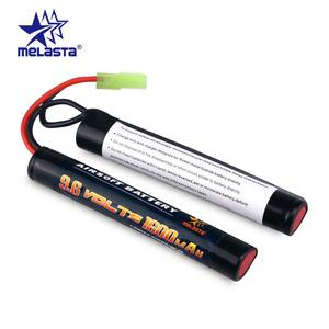 Melasta 8S 2/3A 9.6v 1600mAh Butterfly NunChuck NIMH Battery Pack with Mini Tamiya Connector for Airsoft Guns ICS CA TM SRC JG(China)