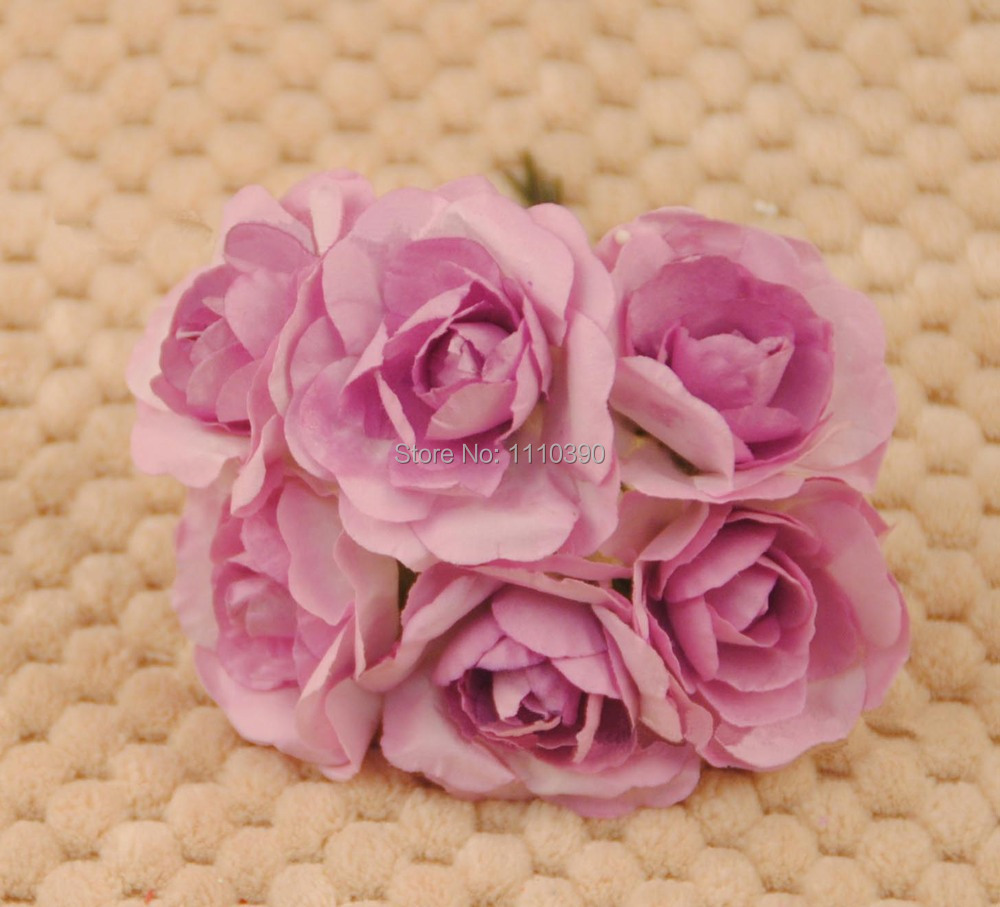 Artificial mini paper rosesmulberry paper flowers bouquetsdiy 34cm artificial paper flowers bouquetreal touch rosesdiy craft accessories for scrapbookingwedding car decoration dhlflorist Choice Image