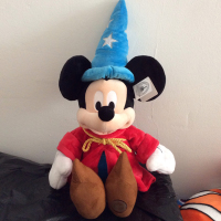 Free Shipping 1pcs 60cm 23.6'' Fantasia Magician Mickey Mouse Stuffed animals Plush Toy Kids Soft Doll for Birthday Gifts