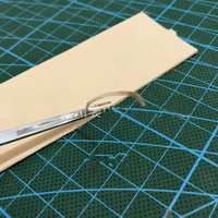 DIY leather craft easy Groover Crease edge skiving hand tool 0.6mm 0.7mm 1.3mm 1.8mm 2.23