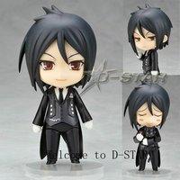 Free Shipping Nendoroid 4 Cute Black Butler Sebastian Michaelis PVC Action Figure Collection Model Toy 68