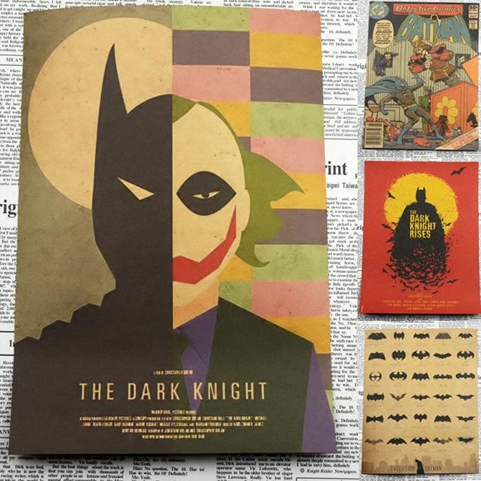 Vintage Paper Retro font b anime b font poster THE DARK KNIGHT BATMAN BEGINS Posters Vintage