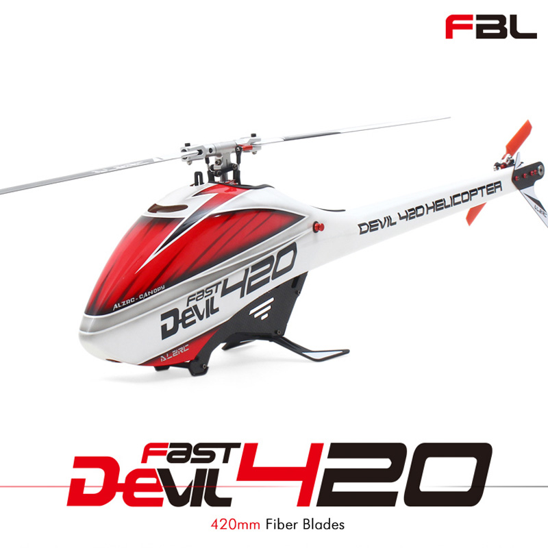 Hot ALZRC Devil 420 FAST FBL Flybarless Aircraft RC Drone Helikopter Air Toys RC Helicopter Super