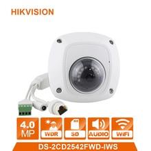WiFi IP Camera DS 2CD2542FWD IWS Mini Dome Wireless IP Camera Full HD 4MP Built in