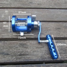 SALTWATER JIGGING BIG GAME FISHING REEL CNC MACHINED SINGLE SPEED LEVER DRAG 30KG DEEP SEA BOAT TROLLING FISHING RIGHT HANDED