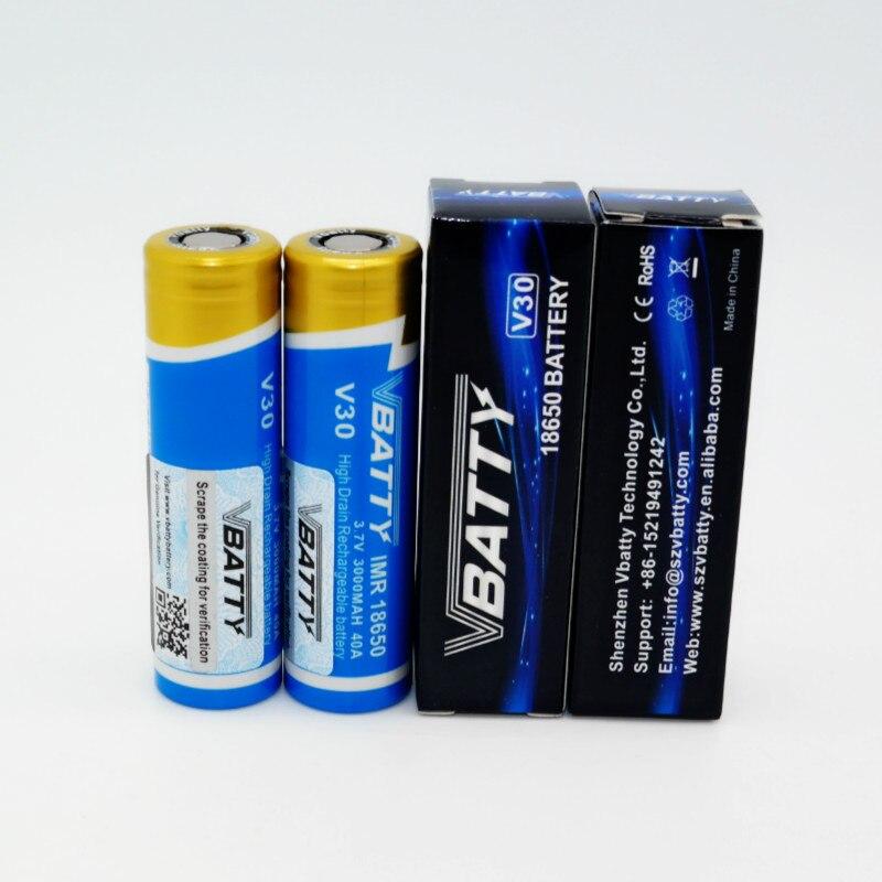 2017 Hot selling Vbatty battery 18650 40A 3000mah 3.7V Batteries 18650 power bank 18650 flashlight 18650 batte(8 pcs)