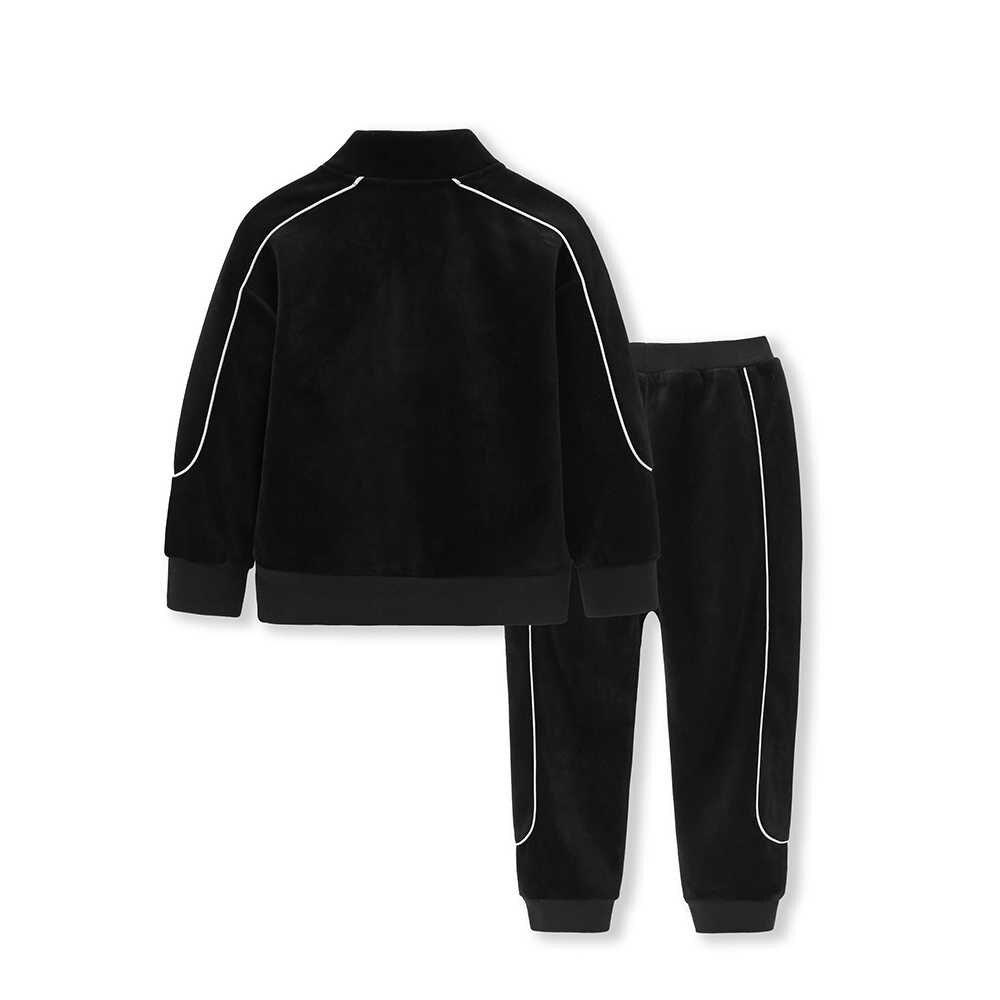 Balabala 2018 ילדים ילדים בני בגדי סטי סתיו חורף סטי כותנה סלעית מעיל חליפות סתיו כותנה תינוק נערי מעיל + צפצף 2 יחידות