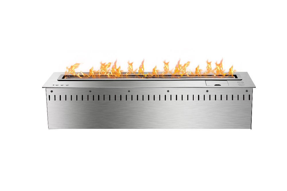 31inch 800mm Long Remote Control Intelligent Silver Bioethanol  Wall Fireplaces