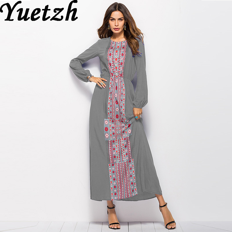 New Autumn long sleeve bohemian dress floral casual streetwear dress  russian women party club shopping working wear clothes 1b8c6f848b