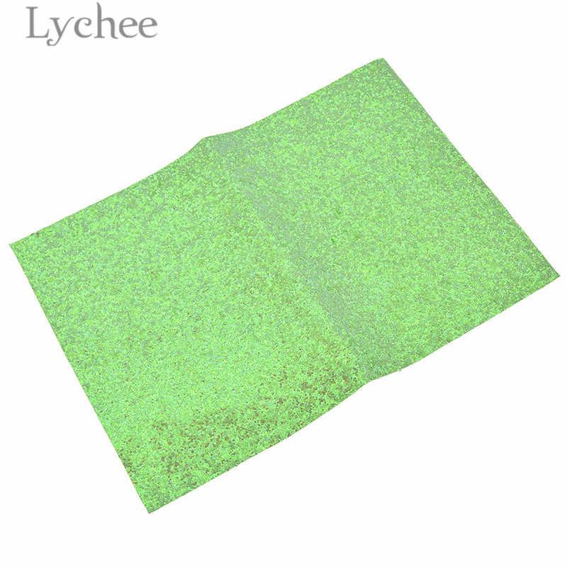 ลิ้นจี่ 21x29 เซนติเมตร A4 สีทึบ Glitter PU หนังผ้าสร้างสรรค์เงาสังเคราะห์หนัง DIY วัสดุสำหรับกระเป๋าถือเสื้อผ้า