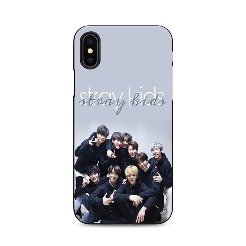 US $1 64 34% OFF|jeongin minho stray kids jisung changbin soft Silicone  black cover phone case for iPhone XS 6 7 8 plus 5 5s 6s se for Apple X-in