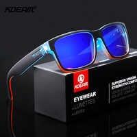 KDEAM Revamp de Sport hommes lunettes de soleil polarisées couleurs choquantes lunettes de soleil conduite en plein air lunettes de soleil photochromiques avec boîte