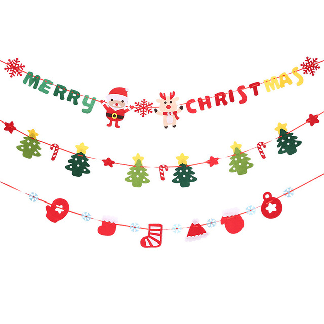 1 christmas flags banner garland letters merry christmas non woven