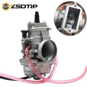 Image 1 - ZSDTRP carburateur plat coulissant Mikuni, compatible avec Honda CR250, pour Kawasaki KX125, TM24, TM28, TM30, TM32, TM34, TM38, 150