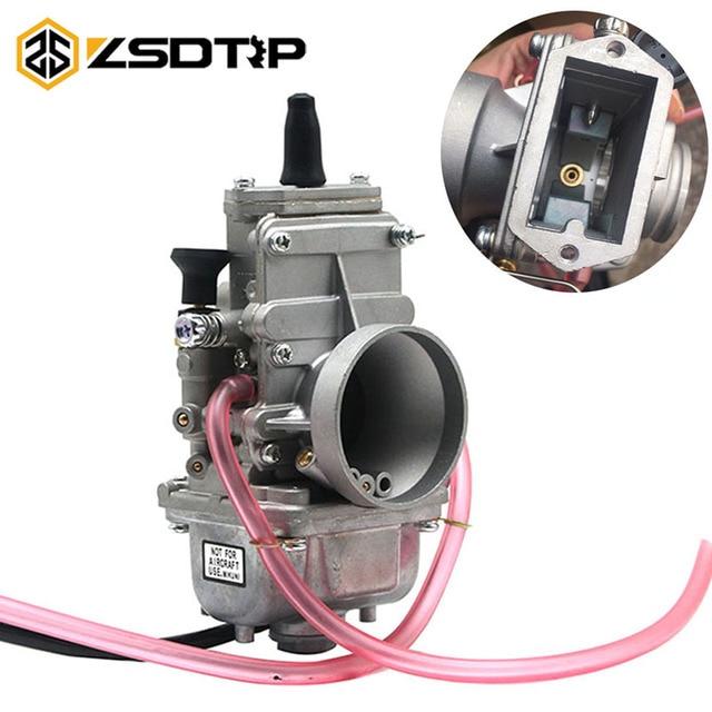 ZSDTRP carburateur plat coulissant Mikuni, compatible avec Honda CR250, pour Kawasaki KX125, TM24, TM28, TM30, TM32, TM34, TM38, 150