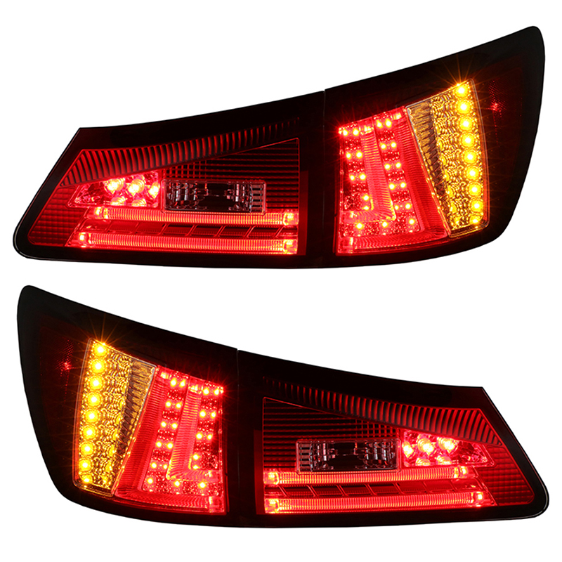 for Lexus IS250 IS300 LED Tail light 2006-2012 Red is250 taillight 2006 2012 free ship 4pcs set red black color is250 rear light is250 fog light is250 is300 tail light is300